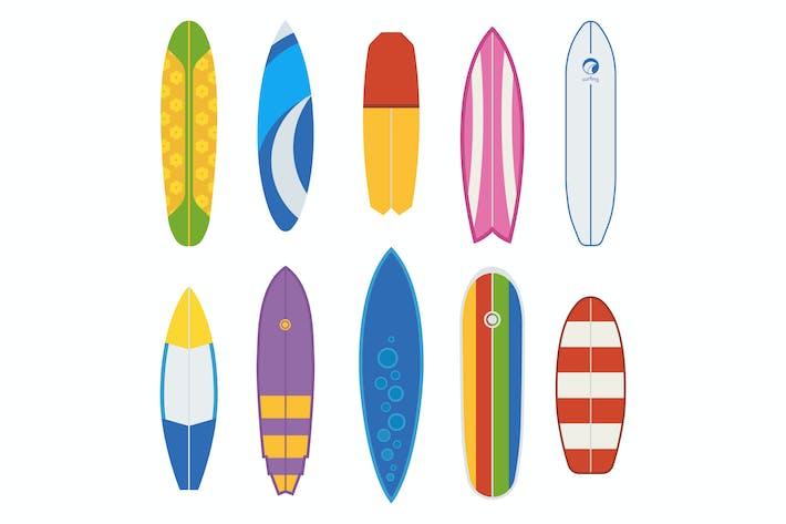 Thumbnail for Différents planches de surf et bureaux de surf