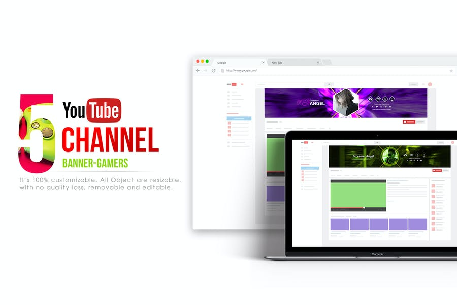 Youtube Channel Banners - Gamers