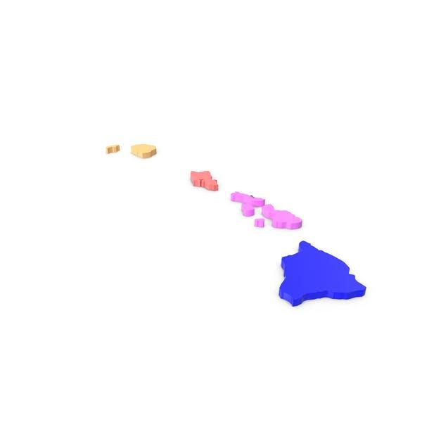 Гавайи Графств Карта