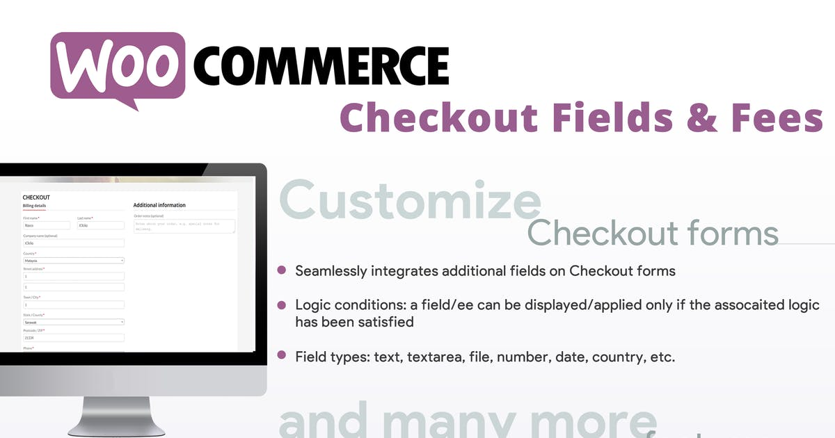 Download WooCommerce Checkout Fields & Fees by vanquish