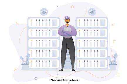 Secure Helpdesk Illustrations CRM