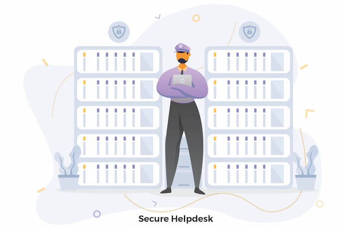 Thumbnail for Secure Helpdesk Illustrations CRM