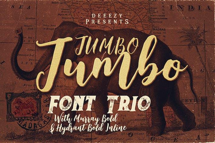 Jumbo Font Trio