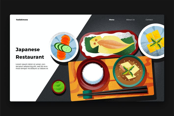 Thumbnail for Japanese Restaurant - Banner & Landing Page