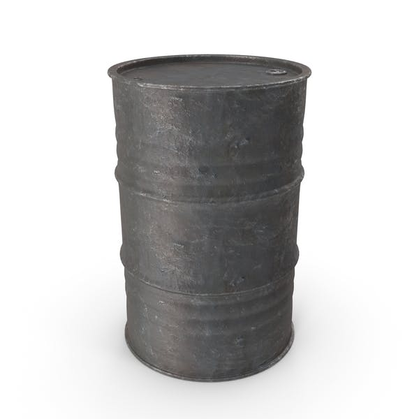 Metal Barrel Iron Old