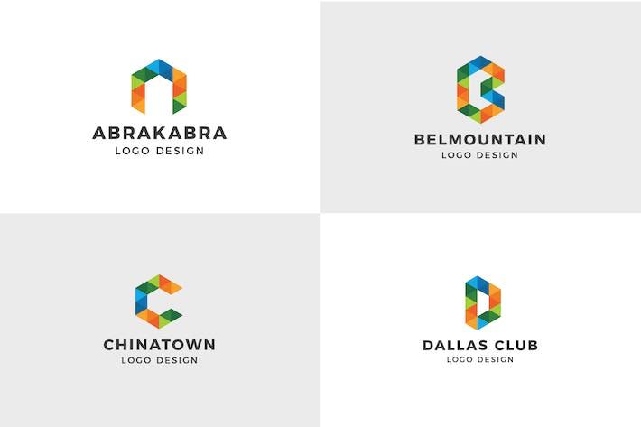 Thumbnail for Alphabet Logo Template ( A, B, C, D )