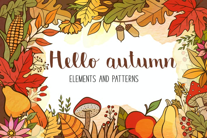 Thumbnail for Doodle Autumn Design Kit