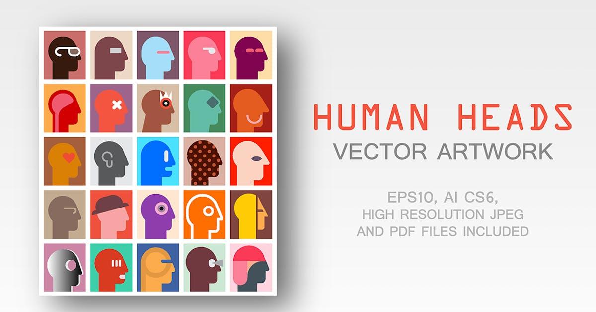 Download Human Heads vector artwork by danjazzia