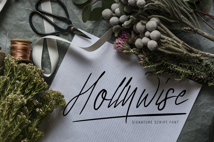 Thumbnail for Hollywise - Signature Script Font