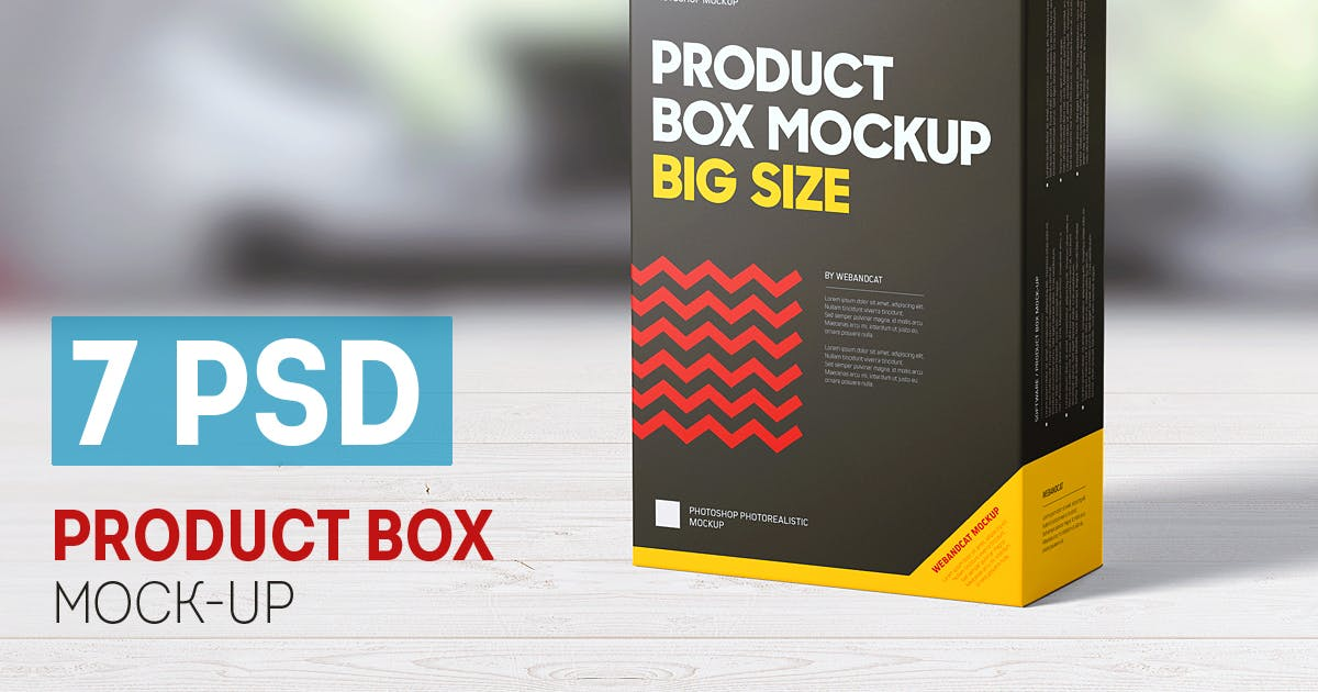 Download Product Box Mock-up by webandcat
