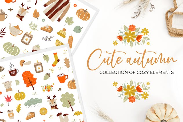 Autumn elements clipart