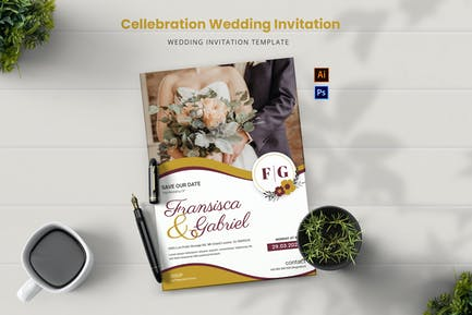 Wedding Cellebration Wedding Invitation