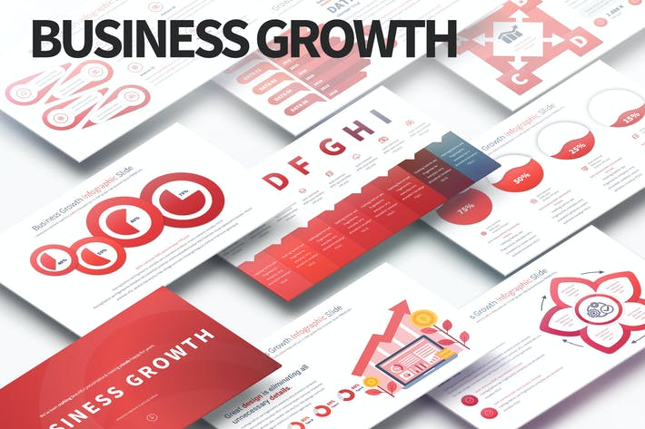 Thumbnail for Business Growth - PowerPoint Infographics Slides