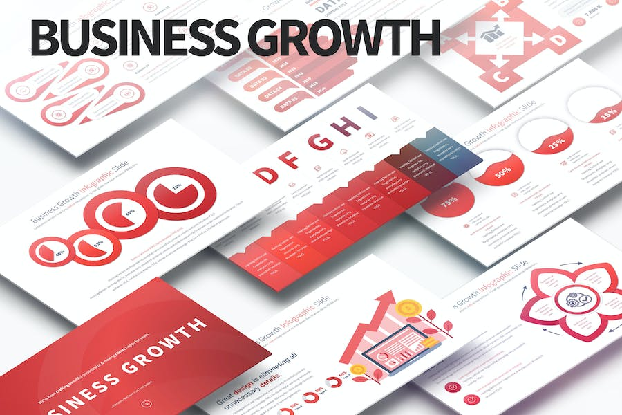 Business Growth - PowerPoint Infographics Slides