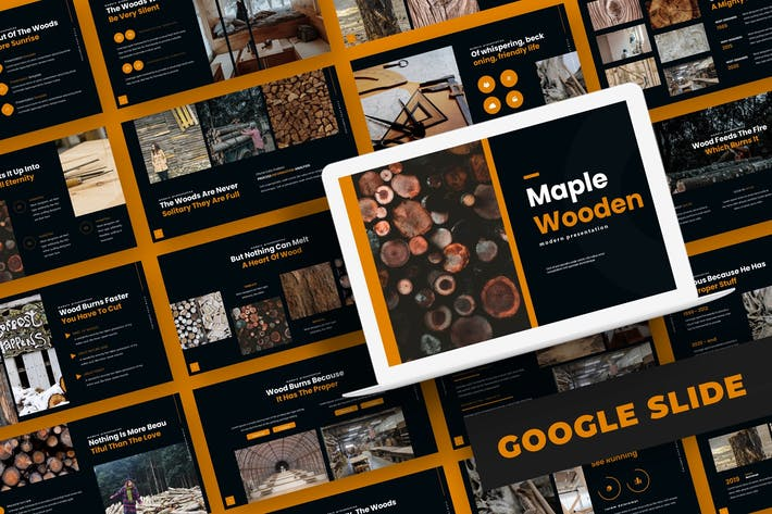 Thumbnail for Maple Wooden - Google Slide Template