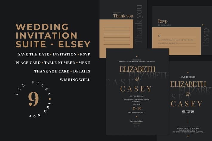 Thumbnail for Wedding Invitation Suite - ELSEY