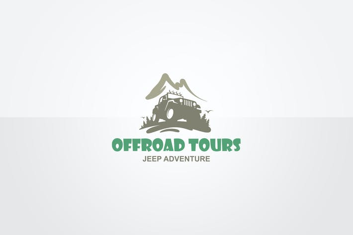 Thumbnail for Jeep Adventure Logo Template