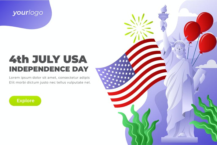 Thumbnail for 4th July Independence Day - Vector Illustration