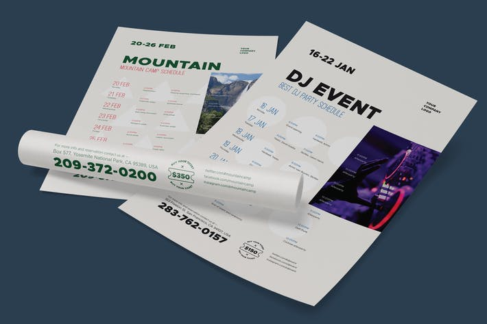 Cover Image For Schedule event poster template, vol2