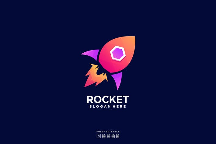 Thumbnail for Rocket Colorful Logo