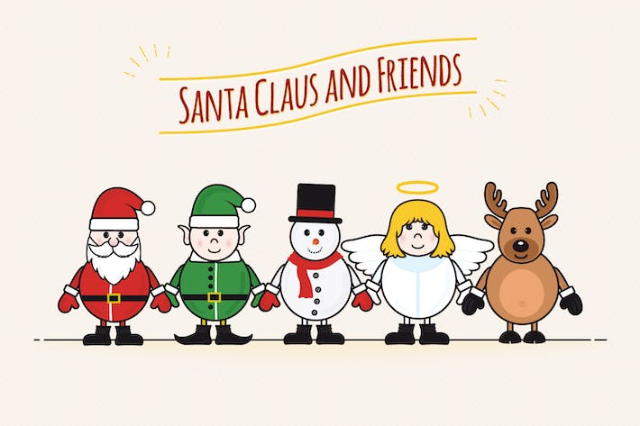 Cover Image For Santa Claus and Friends