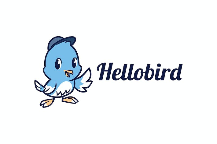 Thumbnail for Cartoon Little Bird Mascot Character Logo