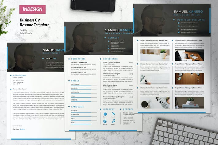 Cover Image For Creative Business Resume Vol. 37