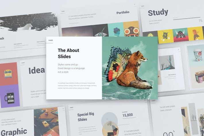 Thumbnail for RUNDO - Минимальный и творческий Шаблон (KEY)