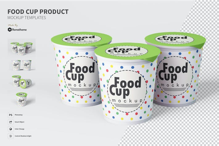 Cover Image For Food Cup - Mockup FH