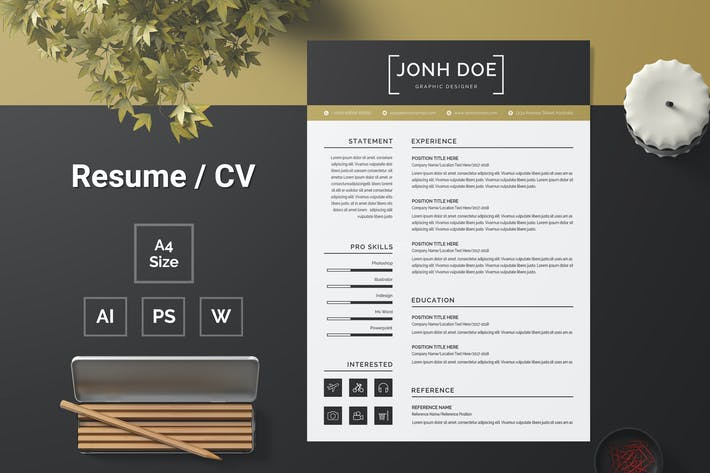 Thumbnail for Resume Template 122