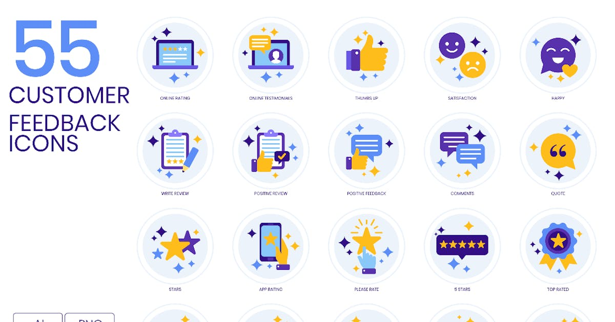 Download Customer Feedback Icons by Krafted