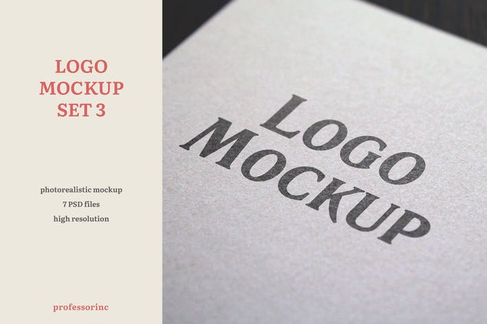 Thumbnail for Logo Mockup — Set 3