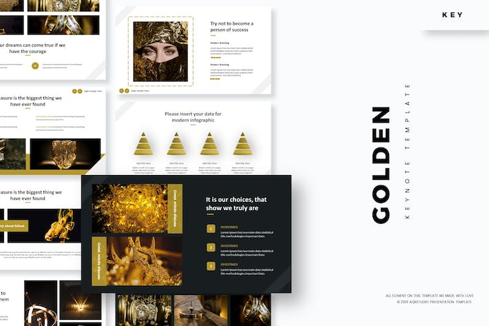 Cover Image For Golden - Keynote Template
