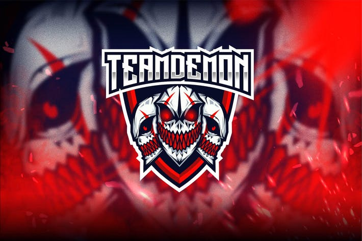 Thumbnail for Team Demon Esport Logo Template