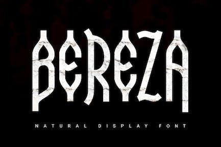 Bereza | nature font
