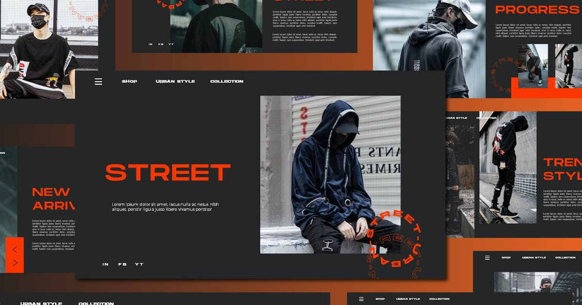 Download STREET - Urban Style Powerpoint Template V4 by indotitas