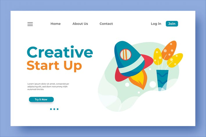 Thumbnail for Creative Start Up Landing Page Illustration