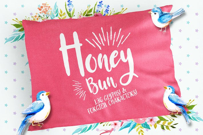 Thumbnail for Honey Bun - Typeface