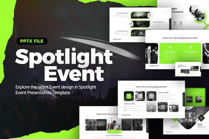 Thumbnail for Spotlight Event Powerpoint Presentation Template