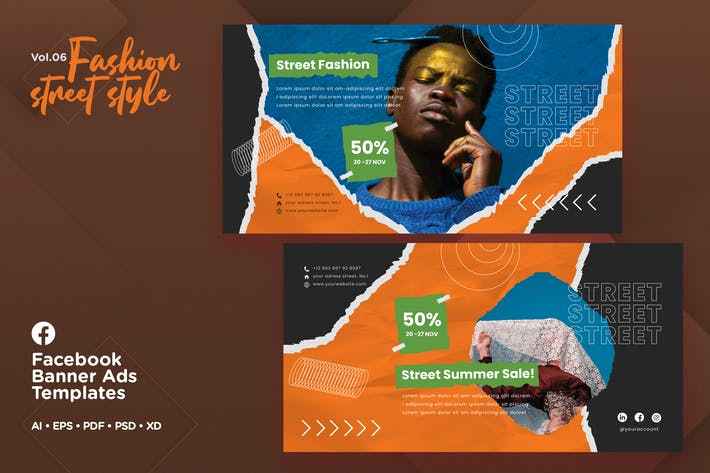 Thumbnail for Facebook Ads Banner Vol.06 Fashion Street Style