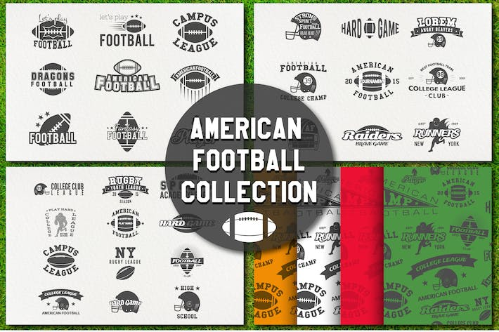 Thumbnail for American Football Modern Labels / Logo Collection