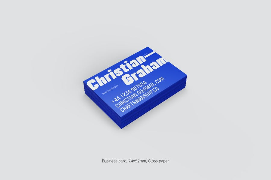 Business card stack gross (74x52mm)