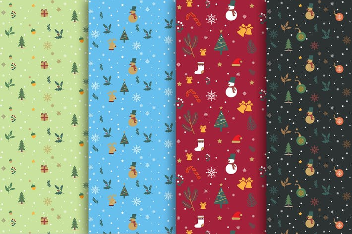 Cover Image For Drawn Christmas Pattern Collection