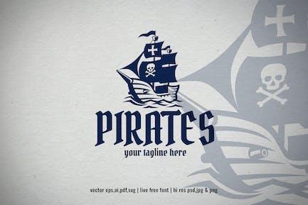 vintage pirate vessel logo