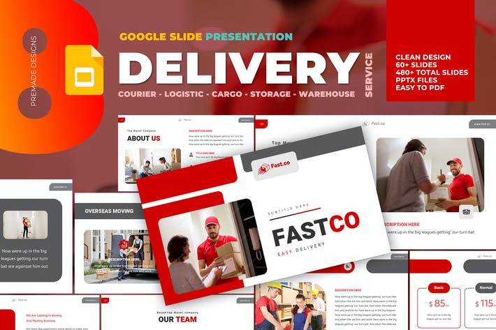 Thumbnail for Delivery Courier Google Slide Template