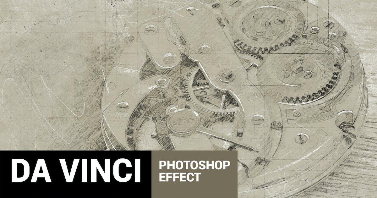 Download Da Vinci - Hand Drawn Sketch Photoshop Action by profactions
