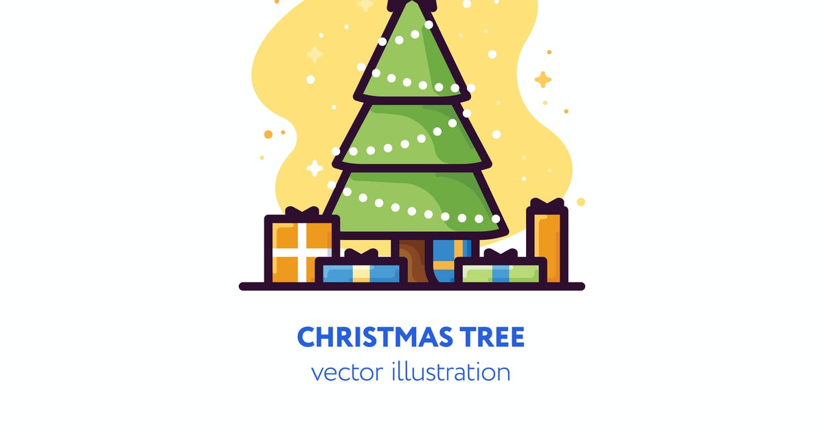 Download Christmas tree vector illustration by mir_design