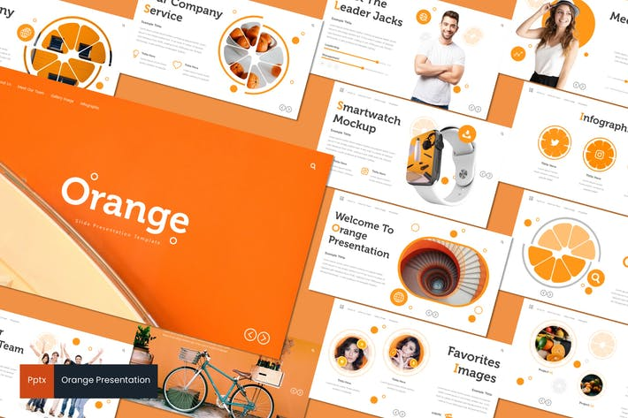 Thumbnail for Orange - Powerpoint Template