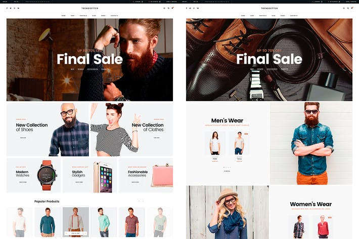 Thumbnail for Trendsetter - e-Commerce PSD template