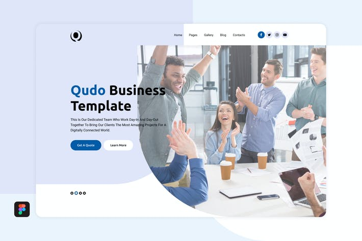 Thumbnail for Qudo Business Hero Header Template